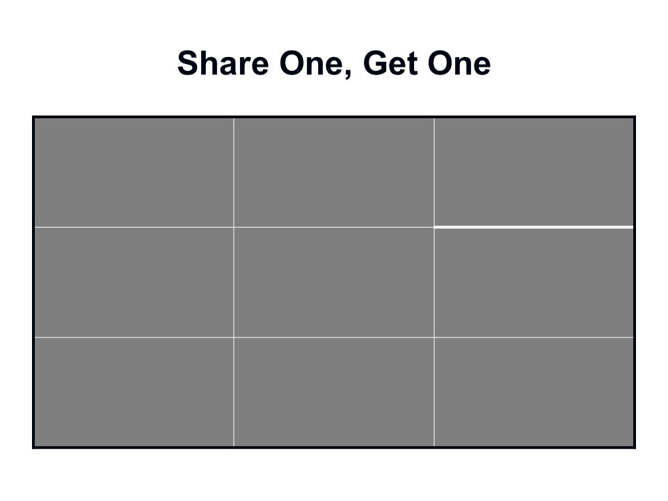 Share One, Get One