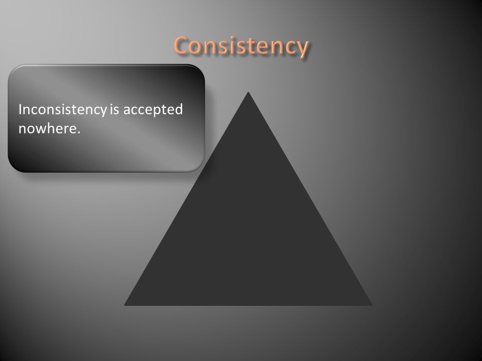 Inconsistency is accepted nowhere.