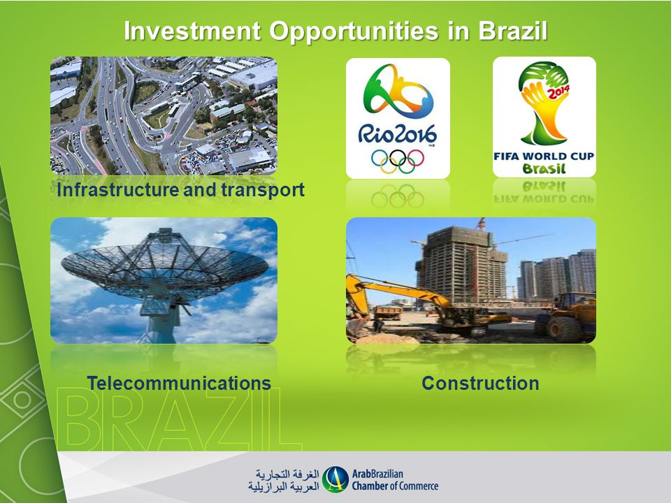 Investment Opportunities in Brazil Infrastructure and transport ConstructionTelecommunications