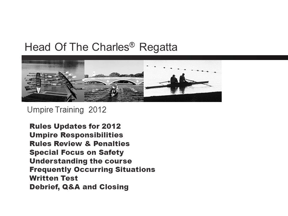 Special Focus on Safety Following the 2006 Regatta, there was a detailed review of regatta safety.