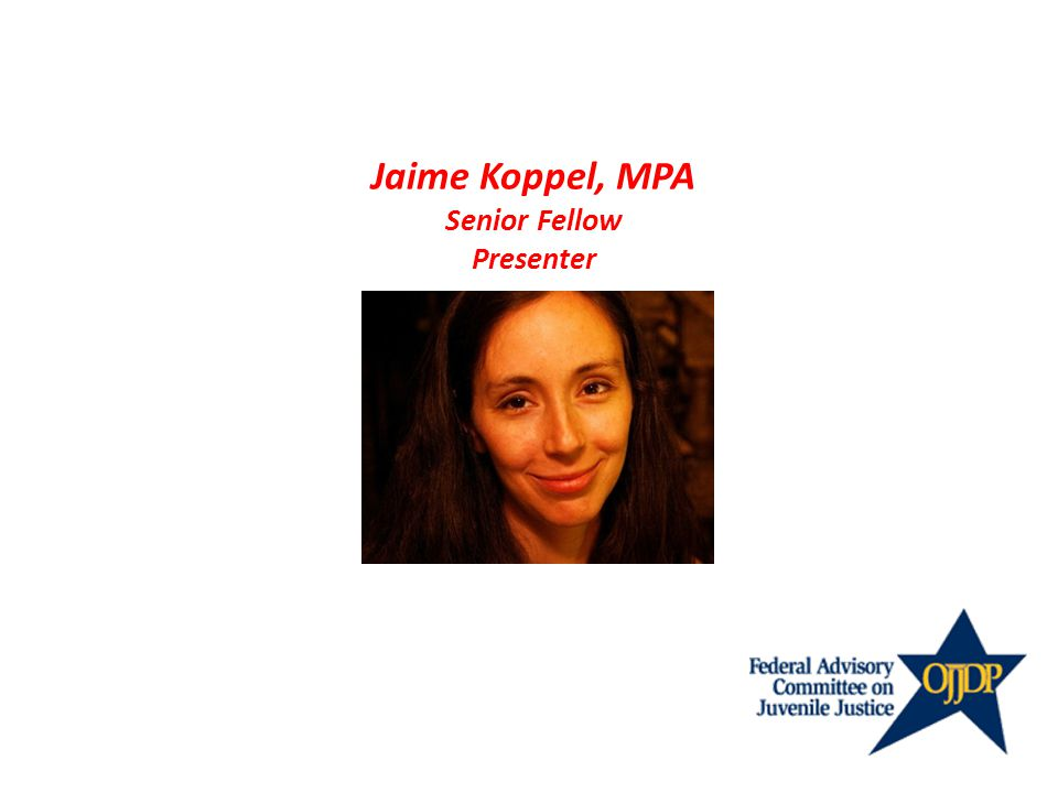 Jaime Koppel, MPA Senior Fellow Presenter
