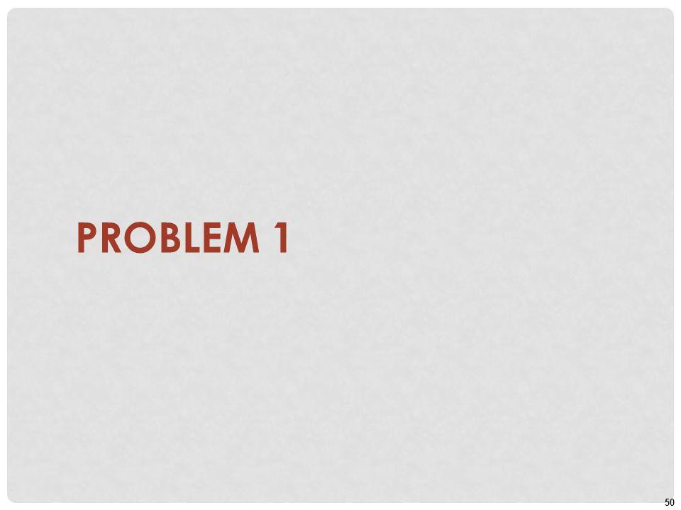 50 PROBLEM 1
