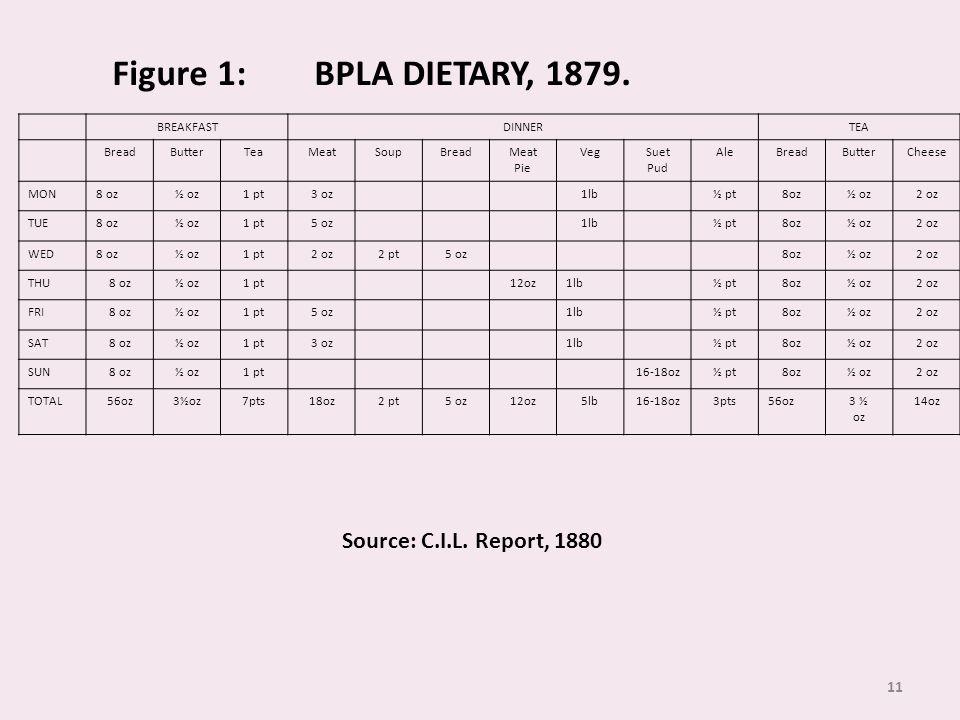 11 Figure 1: BPLA DIETARY, 1879.