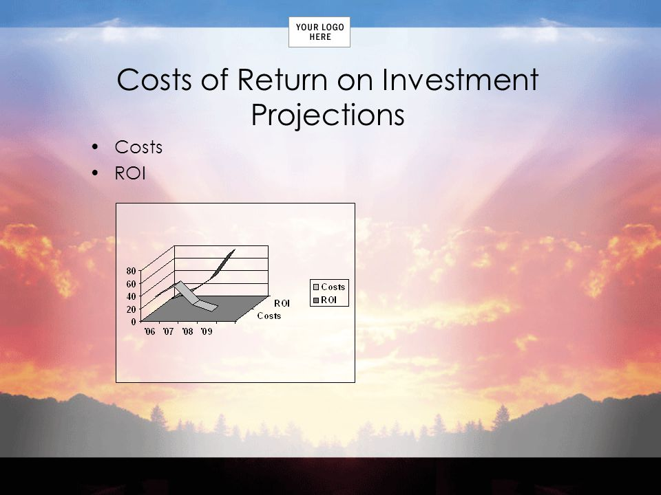 Costs of Return on Investment Projections Costs ROI