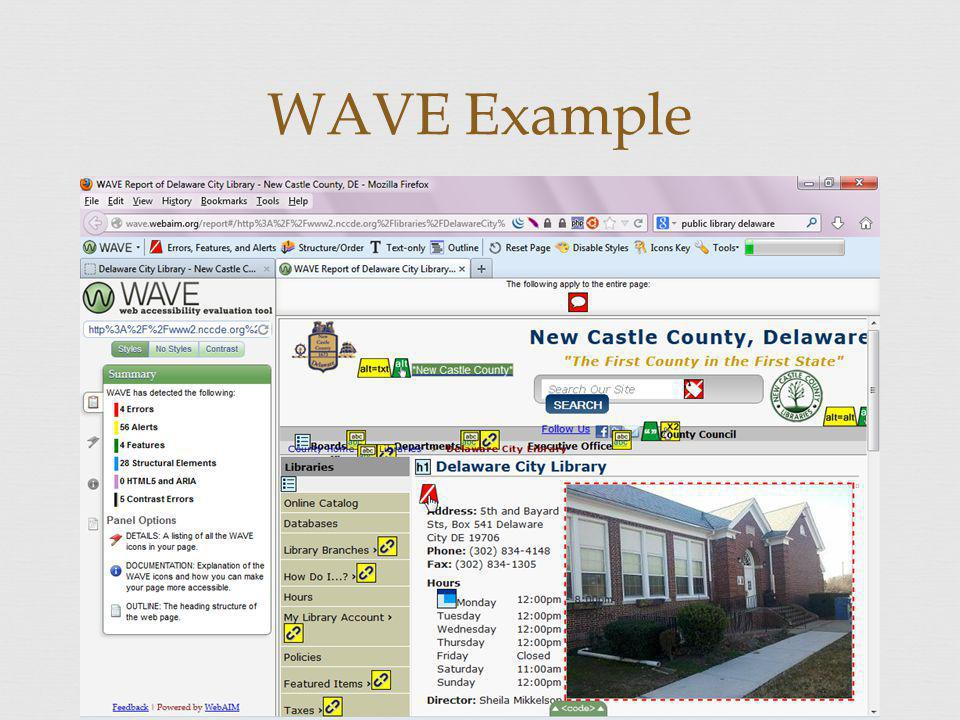 WAVE Example