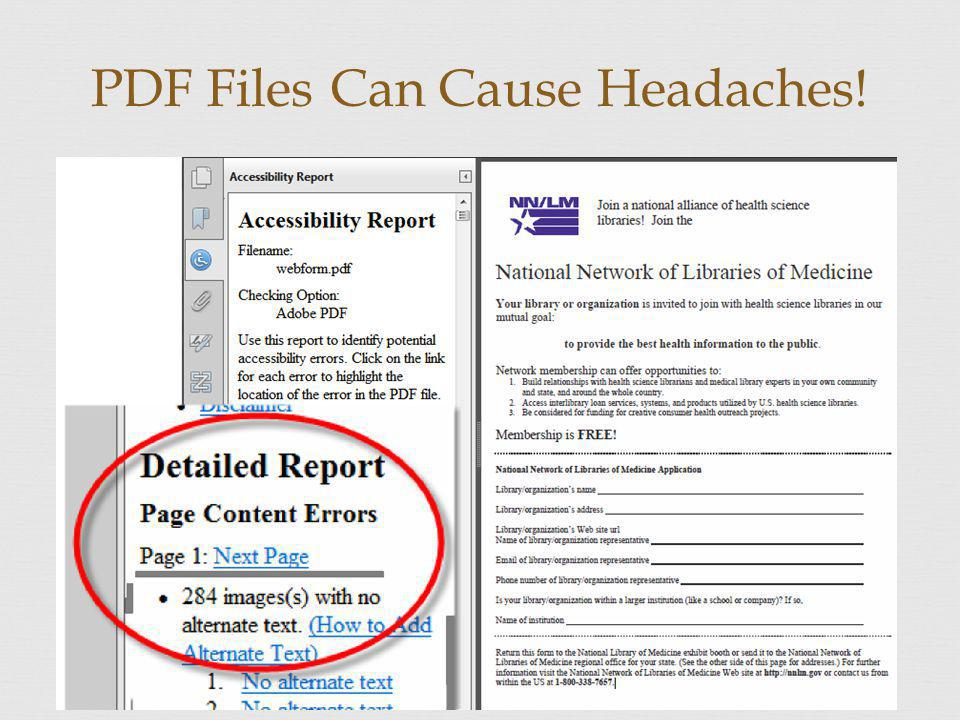 PDF Files Can Cause Headaches!