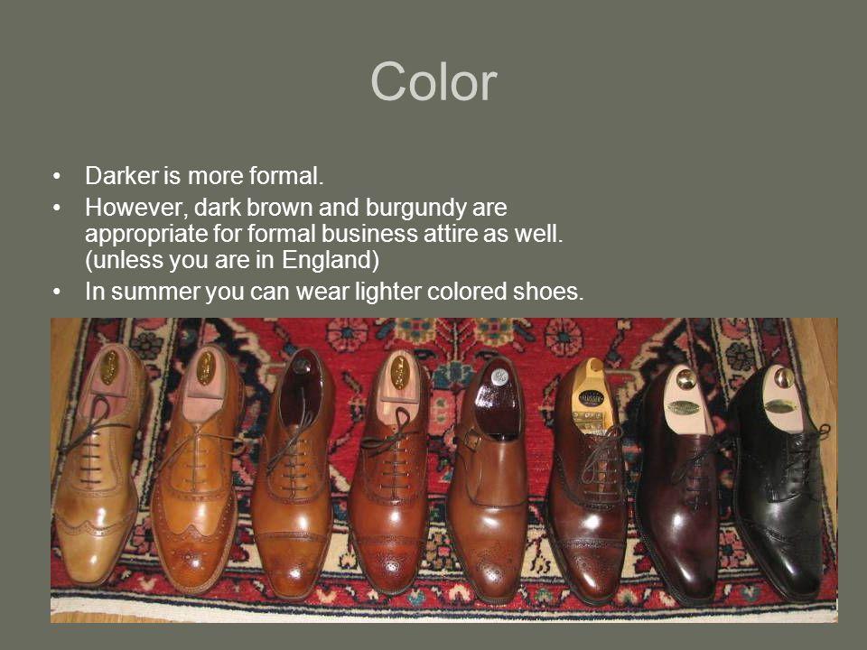 Color Darker is more formal.