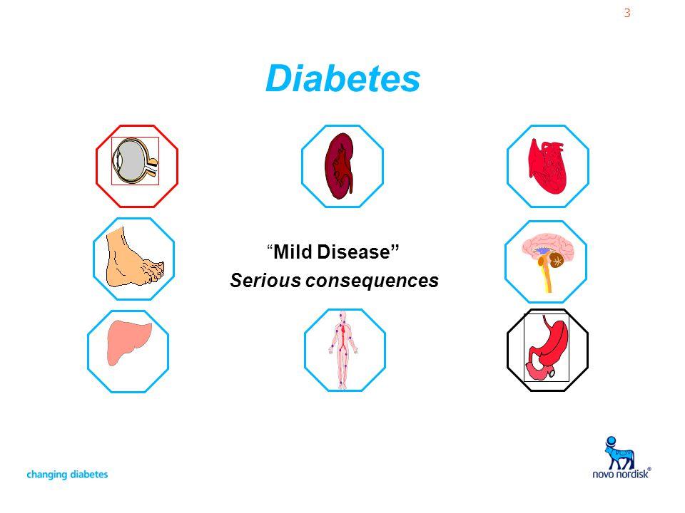 3 Diabetes Mild Disease Serious consequences
