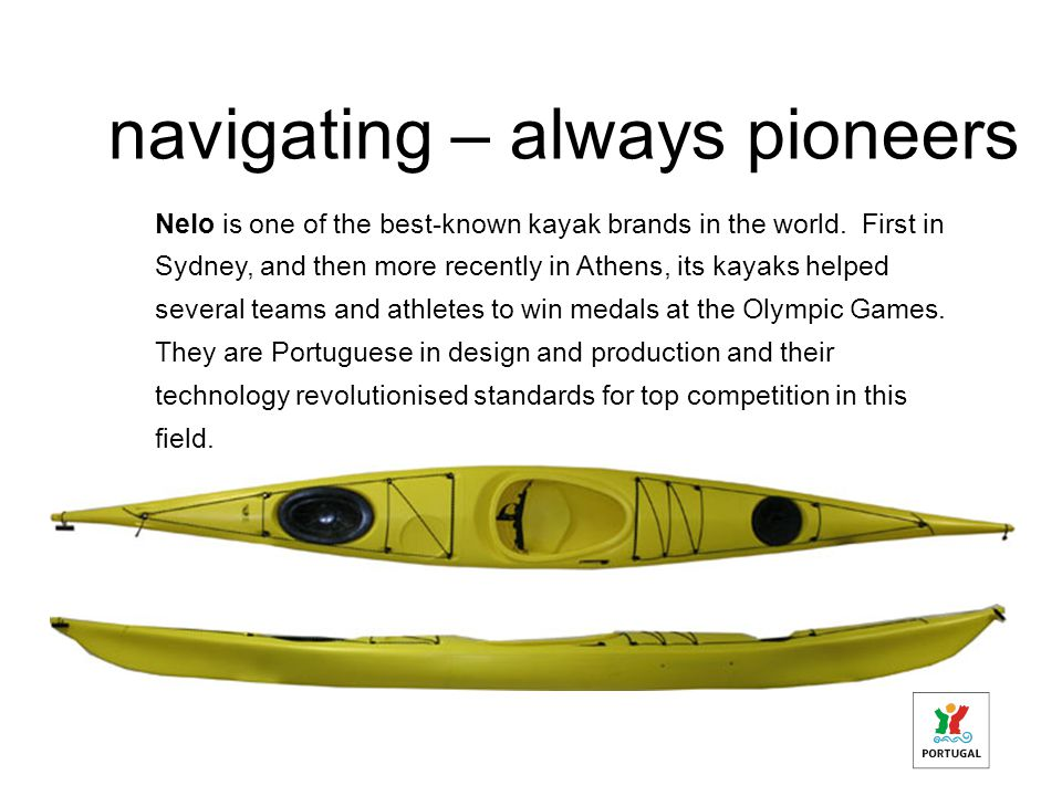 navigating – always pioneers Nelo is one of the best-known kayak brands in the world.