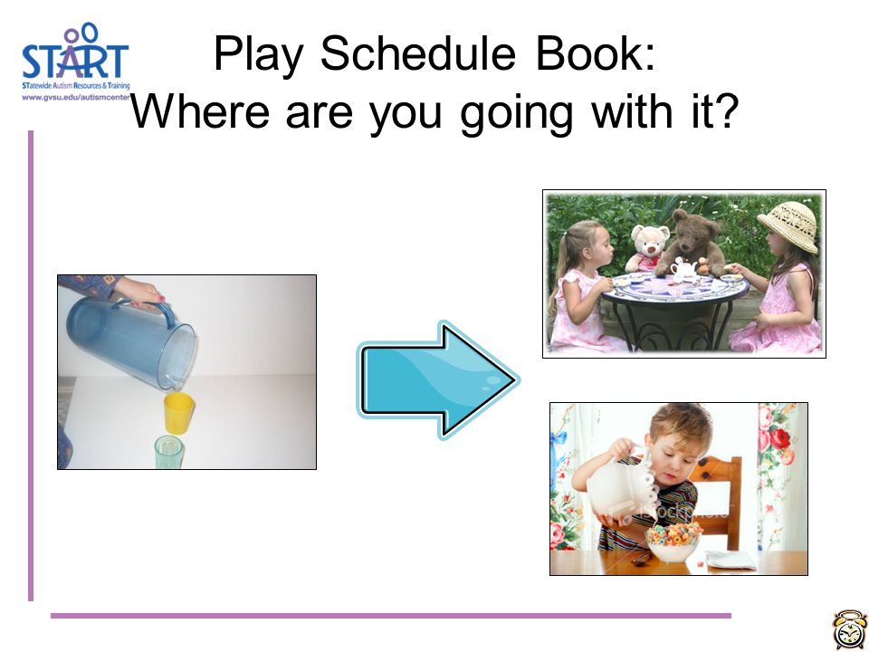 Play Schedule Book: Where are you going with it?