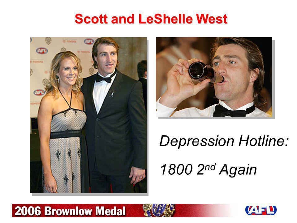 Scott and LeShelle West Depression Hotline: 1800 2 nd Again