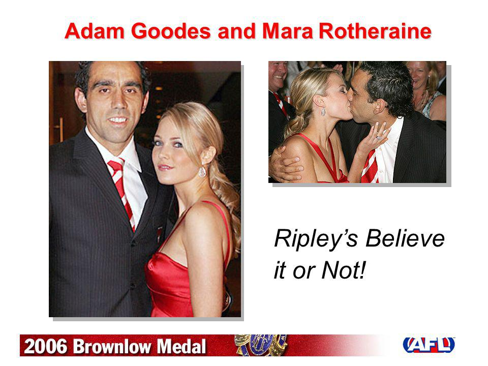 Adam Goodes and Mara Rotheraine Ripleys Believe it or Not!