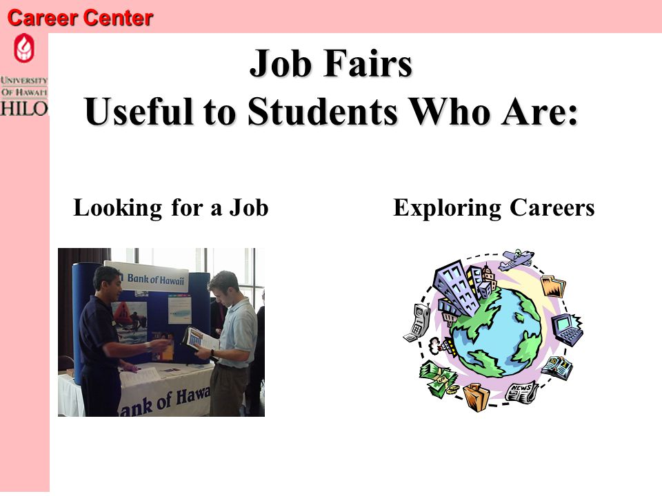 Career Center Spring Job & Internship Fair Monday, March 7, 2005 10:00 a.m -- 2:00 p.m.