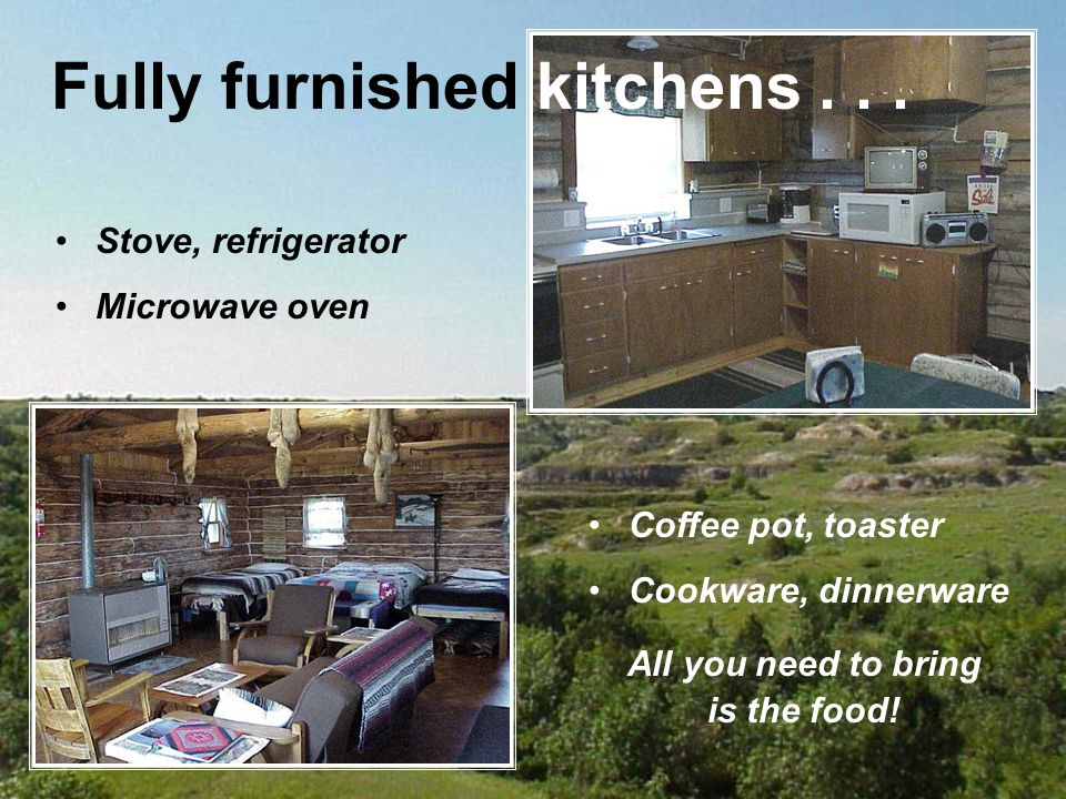 Stove, refrigerator Microwave oven Fully furnished kitchens...