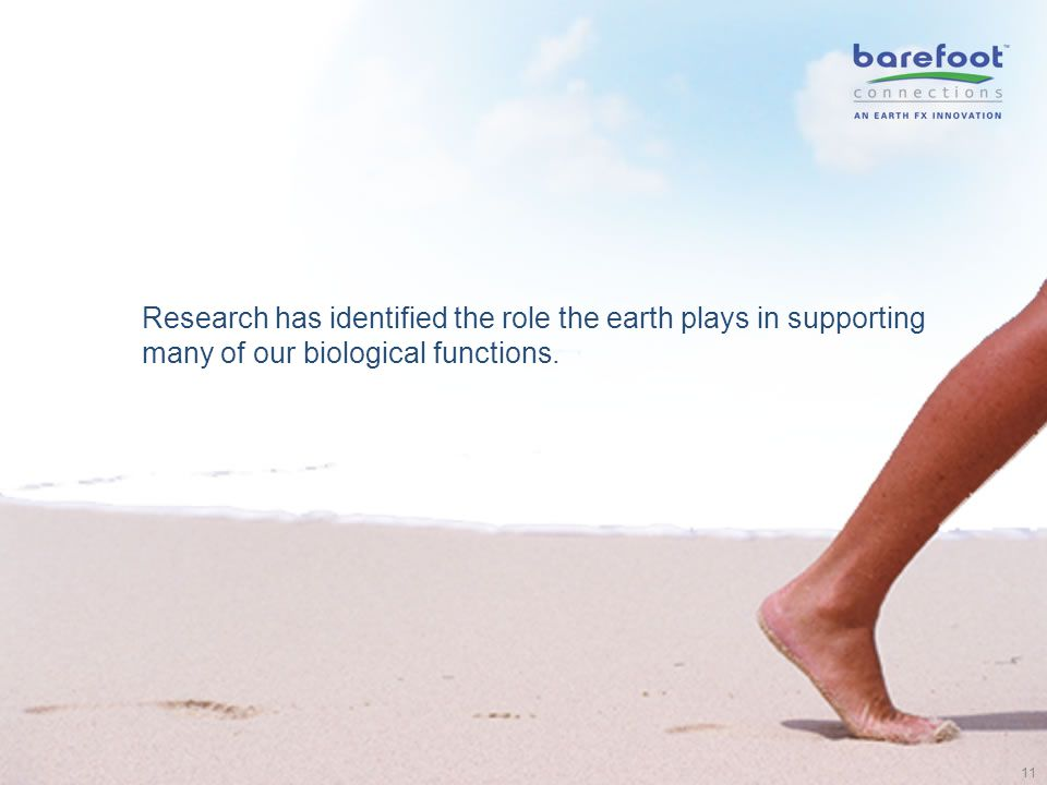Research has identified the role the earth plays in supporting many of our biological functions. 11