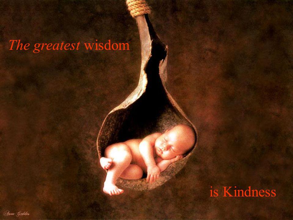 The greatest wisdom is Kindness