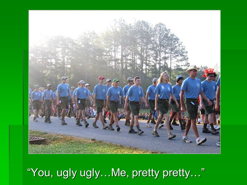 You, ugly ugly…Me, pretty pretty…