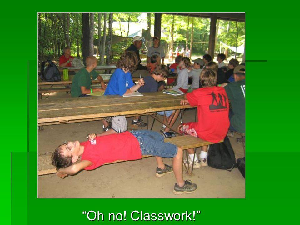 Oh no! Classwork!