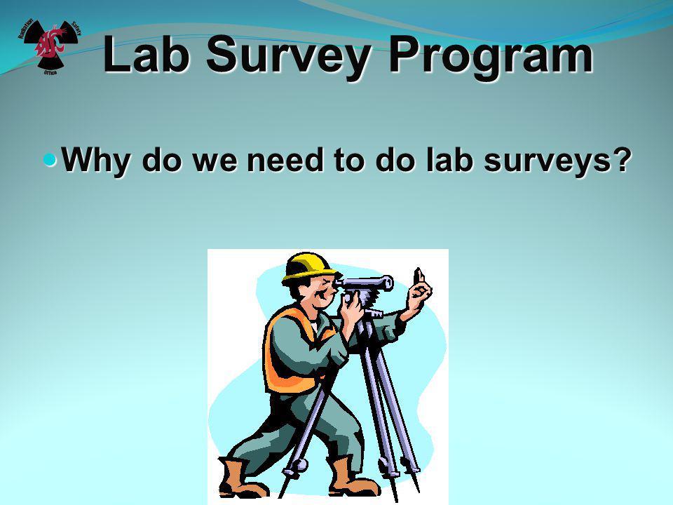 Radiation Safety Training Lab Survey Program Washington State University Radiation Safety Office