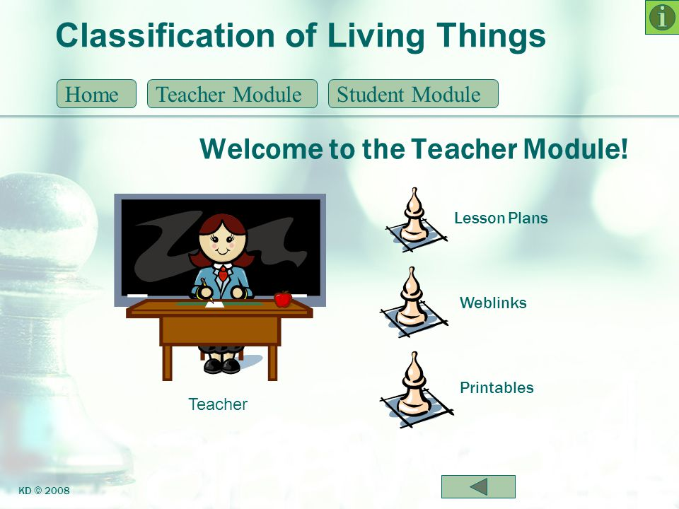 Classification of Living Things 7 Levels of Classification HomeTeacher ModuleStudent Module KD © 2008 Classification is defined as the process of arranging organisms into groups based on similarities.