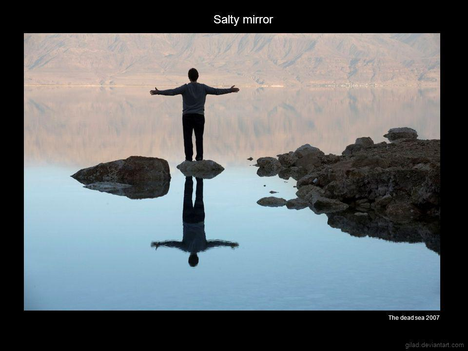 gilad.deviantart.com Salty mirror The dead sea 2007
