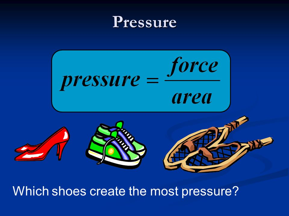 Pressure Which shoes create the most pressure?