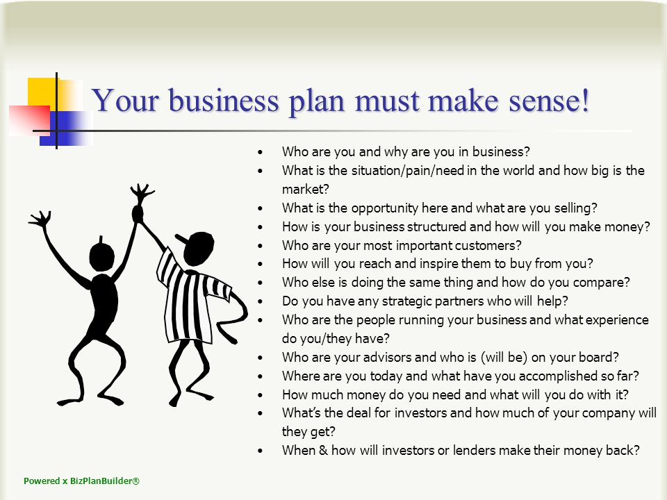 Powered x BizPlanBuilder® Set Up Your Financial Model All sections of the model are fully linked.