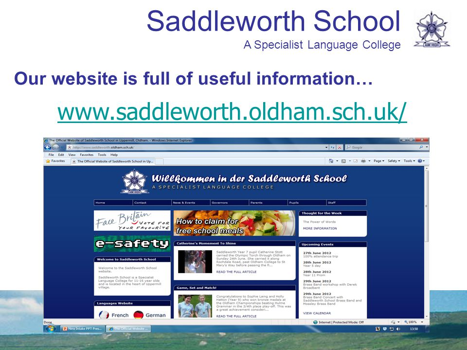 Saddleworth School A Specialist Language College 7NMrs Di Paola(Canteen) 7AMiss Atkinson(Canteen) 7VMr Hill(Canteen) 7YMrs Kidd(Canteen) 7EMr Meadowcroft(Canteen) 7TMiss Davison(Hall) 7GMiss Outram(Hall) 7OMs Frear(Hall) 7LMiss Wainwright(Hall) 7DMr Simkins(Hall) Form tutor-groups 2012-13