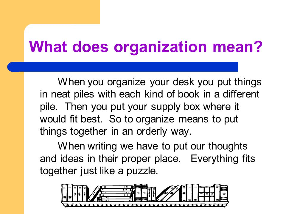 What does organization mean.