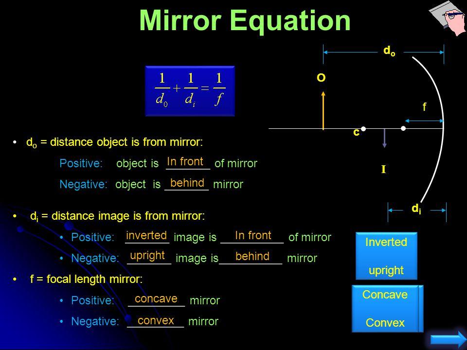 Concave Mirror Image Location Yep, no image