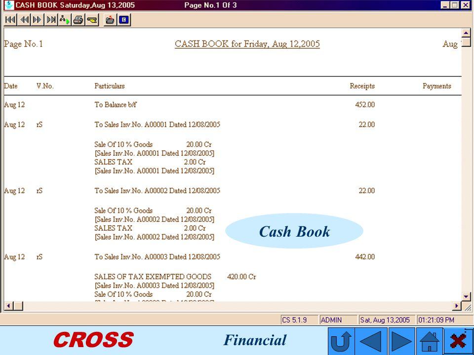 CROSS Cash Book Financial