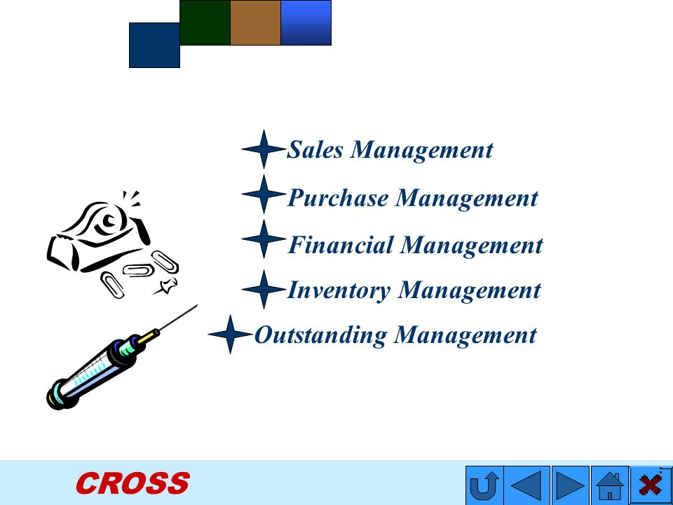 CROSS Financial Management Inventory Management Sales Management Purchase Management Outstanding Management