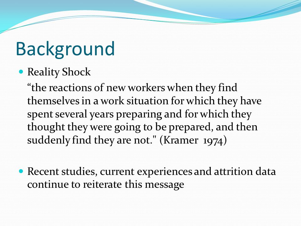 Background Consequences Loss of ideals Loss of values associated with caring and person centred practice Loss of analytical thinking skills Compartmentalising the ideal and separating it from the reality Low job satisfaction Attrition
