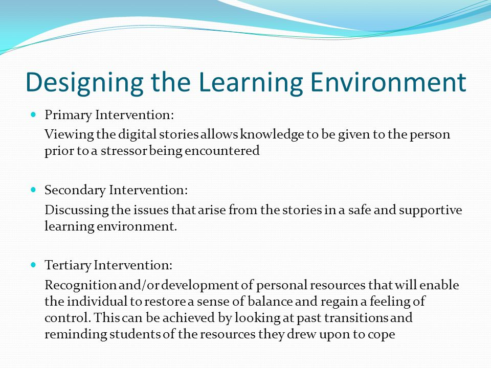 Evaluation of the learning environment Authenticity of the stories It made my learning more meaningful and real.