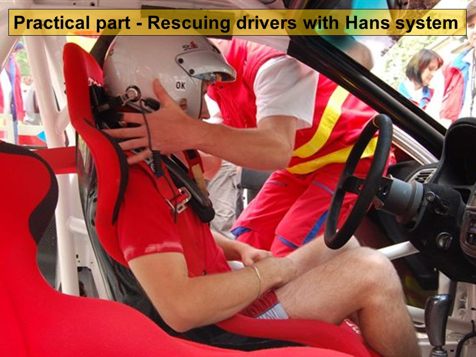 Practical part - Rescuing drivers with Hans system