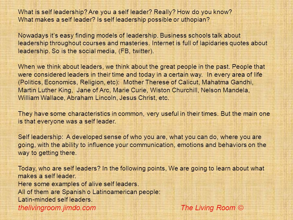 What is self leadership? Are you a self leader? Really? How do you know? What makes a self leader? Is self leadership possible or uthopian? Nowadays i