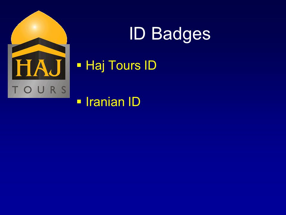 ID Badges Haj Tours ID Iranian ID