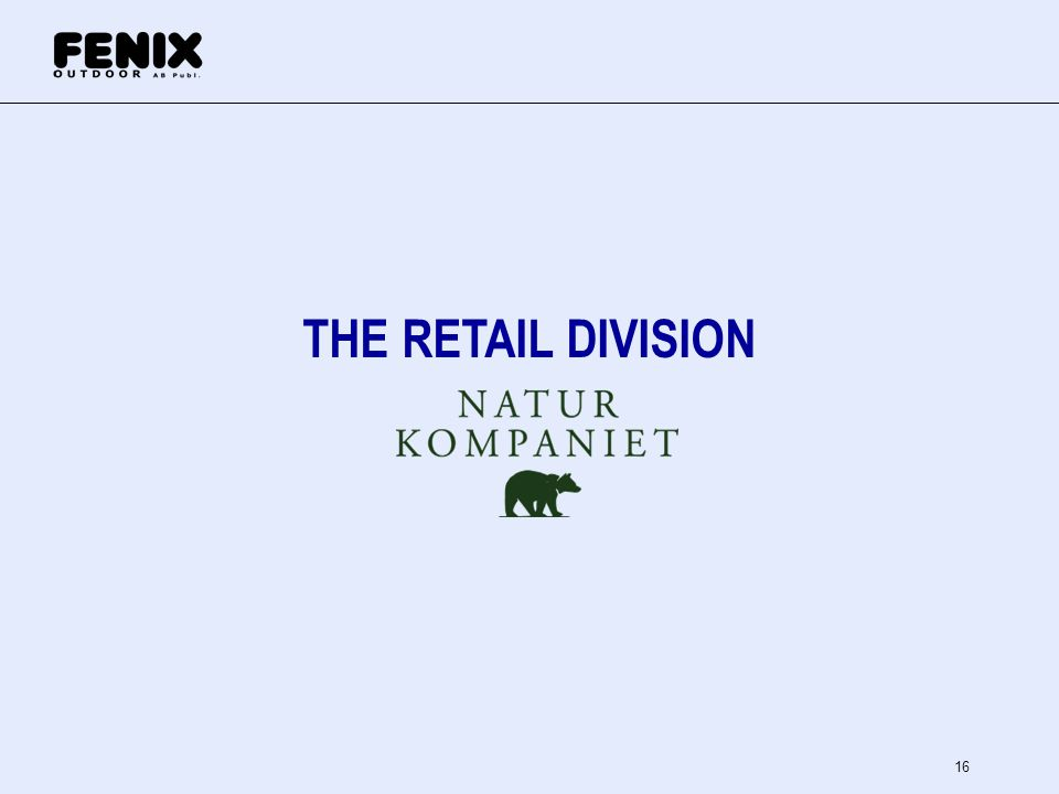 16 THE RETAIL DIVISION
