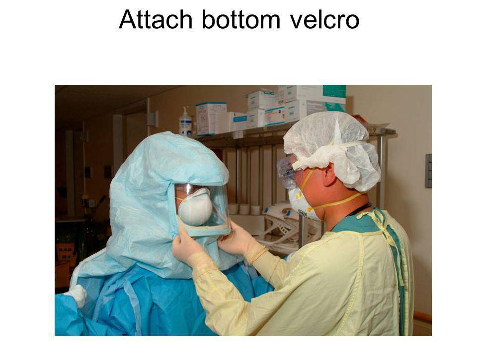 Attach bottom velcro