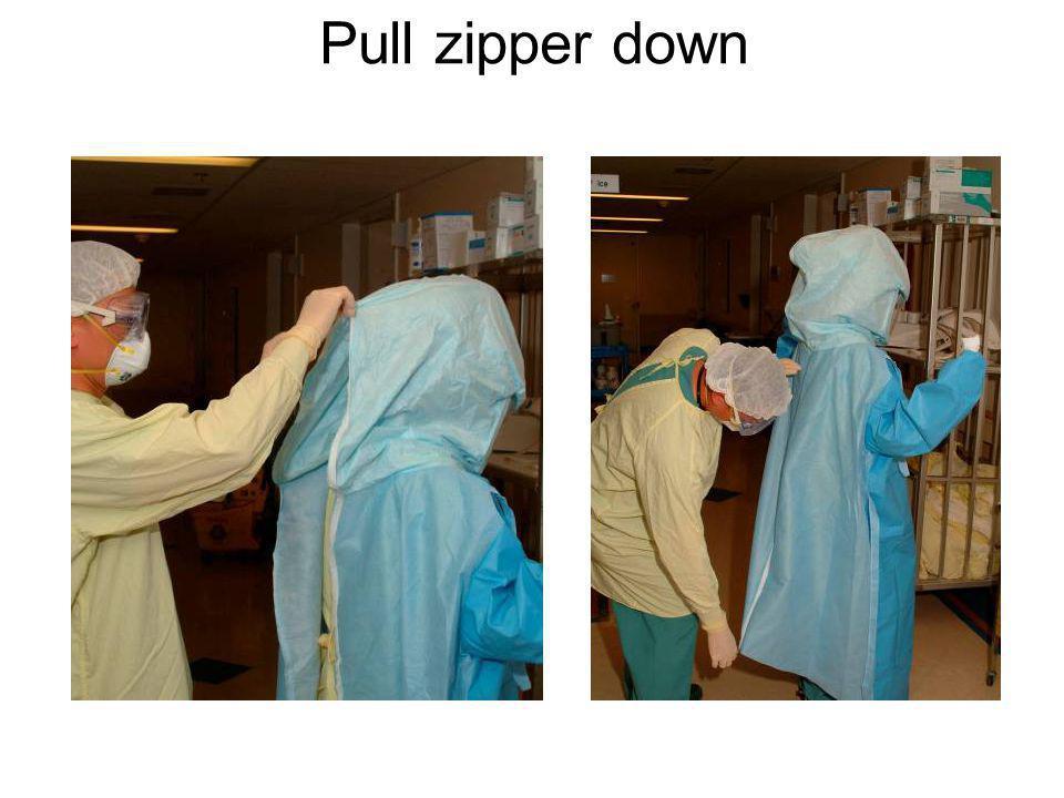 Pull zipper down