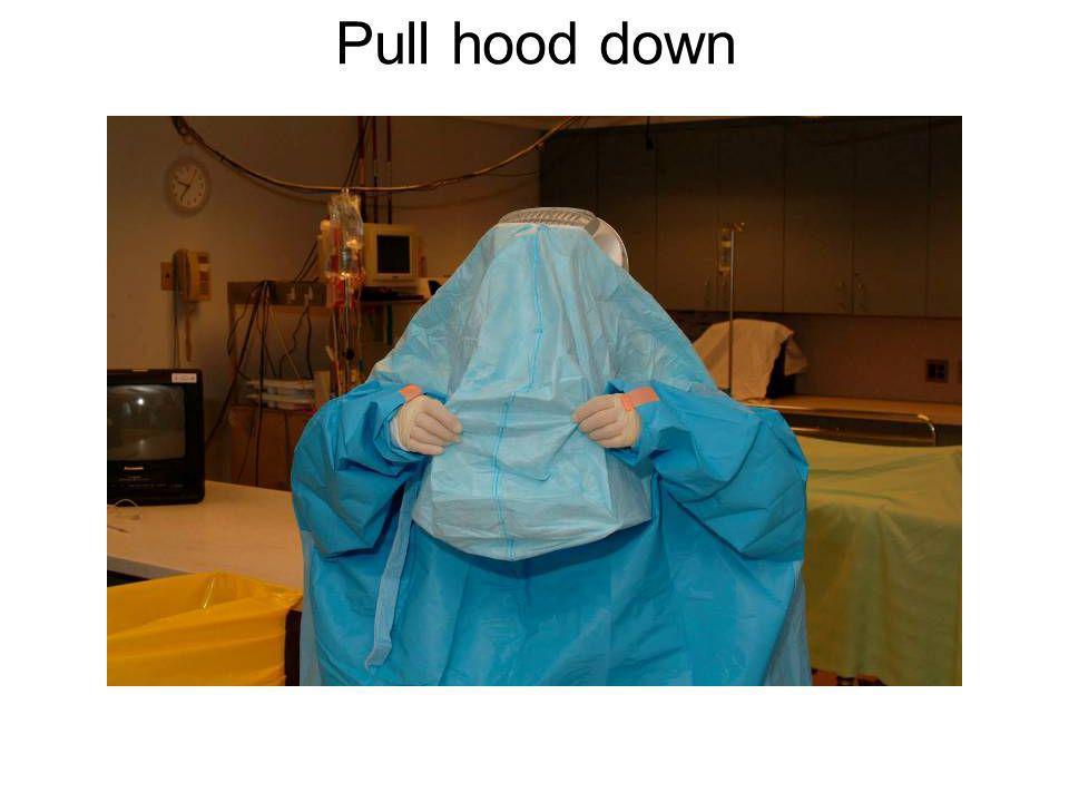 Pull hood down