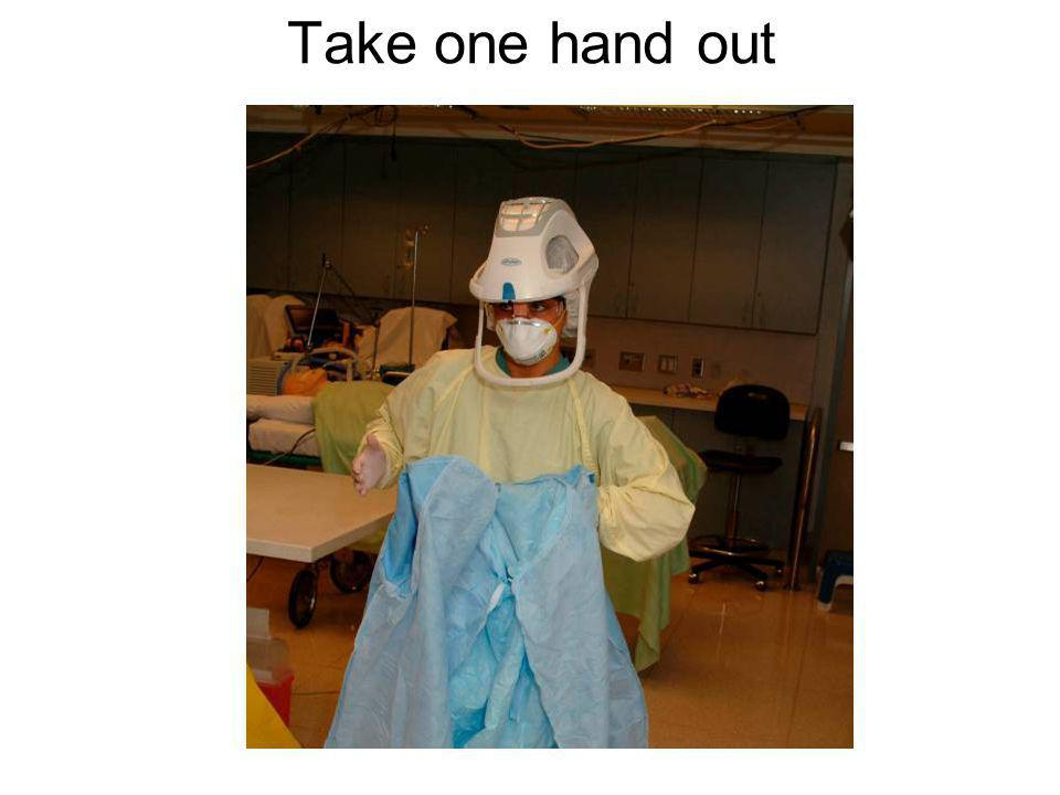 Take one hand out