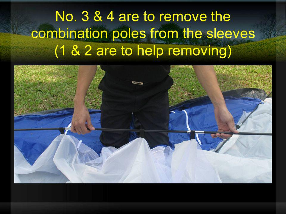 No. 3 & 4 are to remove the combination poles from the sleeves (1 & 2 are to help removing)