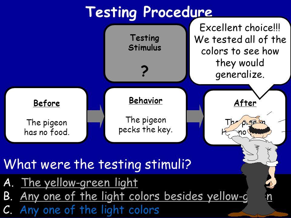 A.The yellow-green lightThe yellow-green light B.