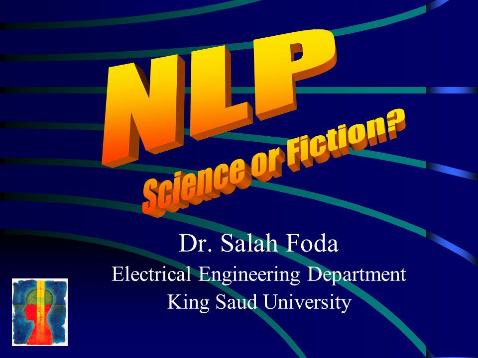 Dr. Salah Foda Electrical Engineering Department King Saud University