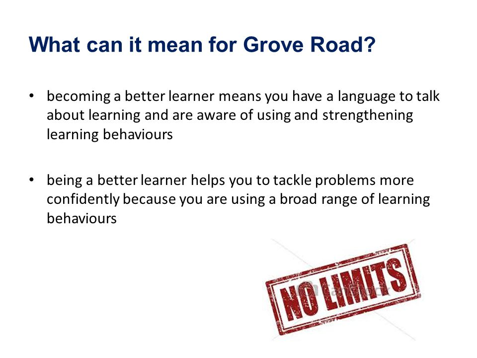 What can it mean for Grove Road.