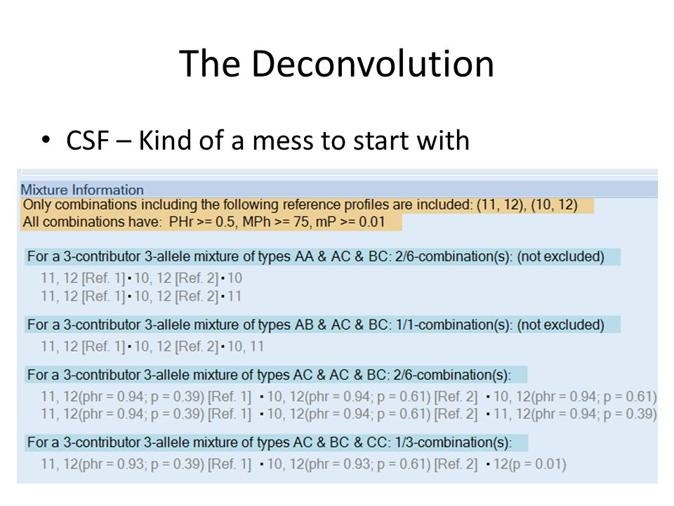 The Deconvolution CSF – Kind of a mess to start with