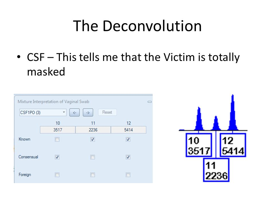 The Deconvolution CSF – This tells me that the Victim is totally masked