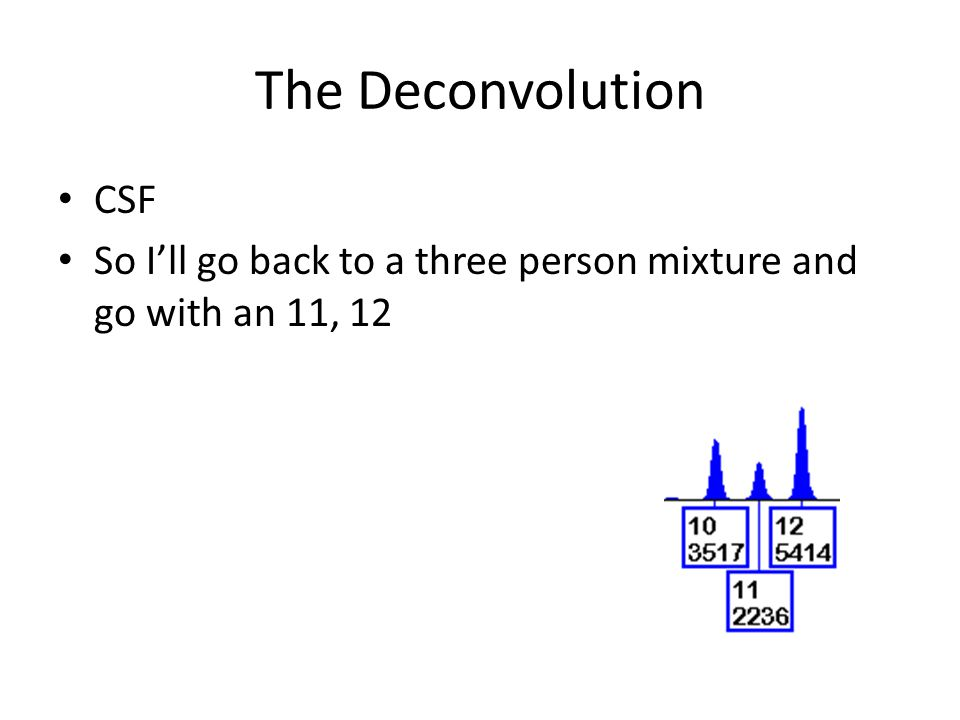 The Deconvolution CSF So Ill go back to a three person mixture and go with an 11, 12