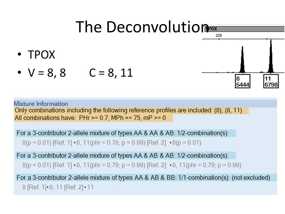 The Deconvolution TPOX V = 8, 8 C = 8, 11